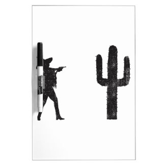 Mexican vs Cactus Dry Erase Whiteboard