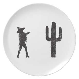 Mexican vs Cactus Party Plate