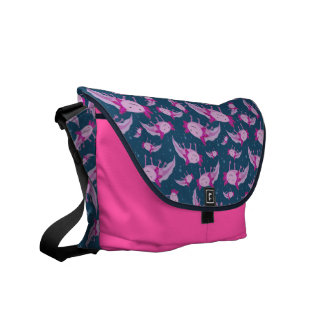 Mexican Walking Fish Pattern Courier Bags