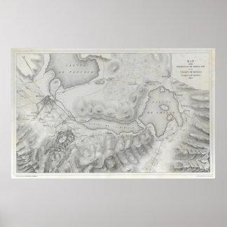 Mexican War Map Poster