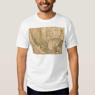 Mexican War Map Tee Shirt