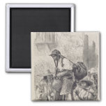 Mexican Water-Carrier 2 Inch Square Magnet