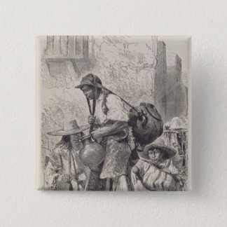 Mexican Water-Carrier Pinback Button