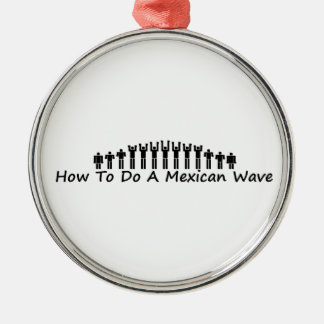 Mexican Wave Metal Ornament