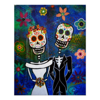 Mexican Wedding  Folk Art Painting Print