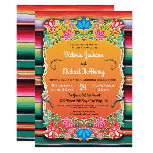 Mexican Wedding Rug And Fl Invitation