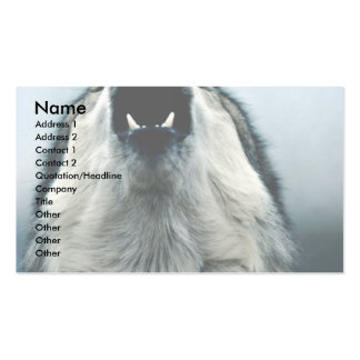 Mexican wolf, endangered species, Sonoran Desert, Business Cards