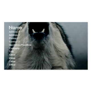 Mexican wolf, endangered species, Sonoran Desert, Business Card Templates