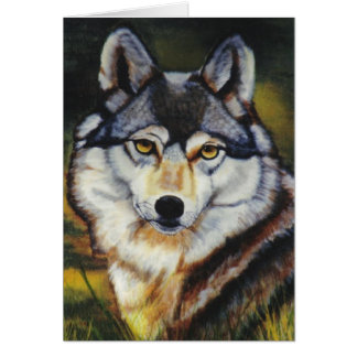 """Mexican Wolf"" Greeting Card"