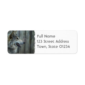 Mexican Wolf Mailing Label Return Address Label
