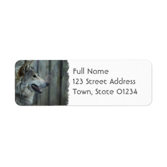 Mexican Wolf Mailing Label