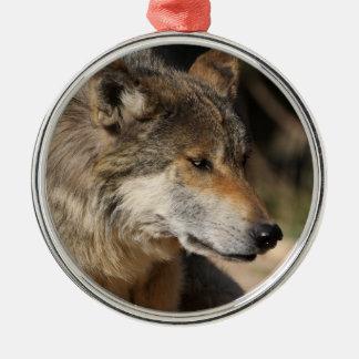 Mexican Wolf Portrait Metal Ornament