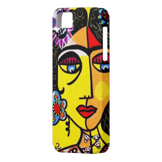 Mexican Woman Citrine Sugar Skull - iPhone iPhone 5 Case