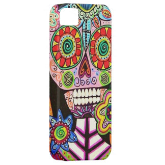 Mexican Woman Pink Sugar Skull Flowers iPhone iPhone 5 Case