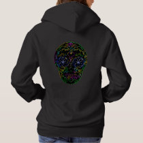 Mexican women's hoodie with skull