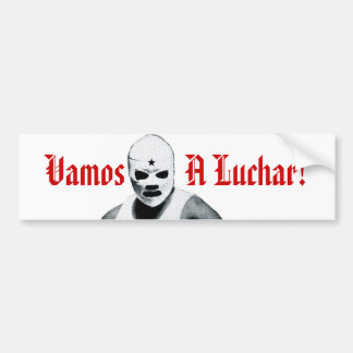 Mexican Wrestler Bumper Sticker