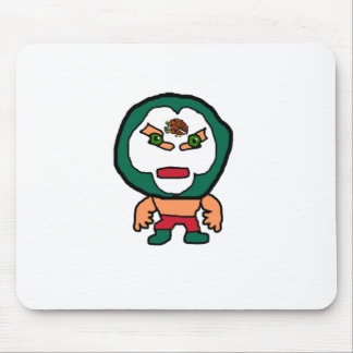 Mexican Wrestler Cartoon Illustration Mouse Pad