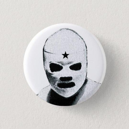Mexican Wrestler Pinback Button