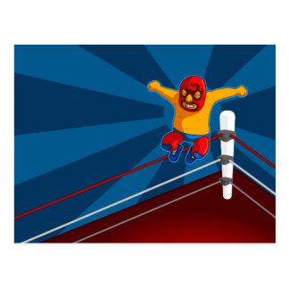 Mexican Wrestler postcard