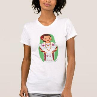 Mexican Yucatan Matryoshka Ladies Casual Scoop T-Shirt