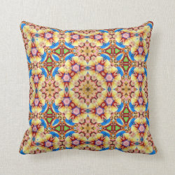Mexicana Kaleidoscope Design No 3 Throw Pillow