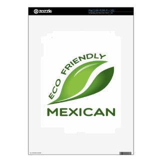 Mexicano amistoso de Eco Calcomanías Para El iPad 2
