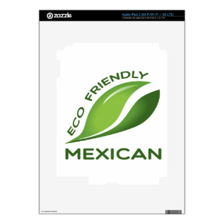Mexicano amistoso de Eco iPad 3 Skins