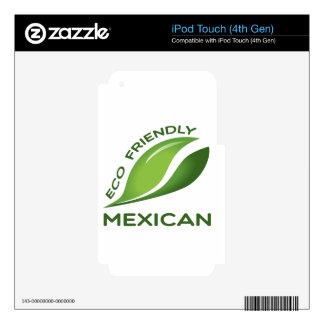 Mexicano amistoso de Eco iPod Touch 4G Calcomanías