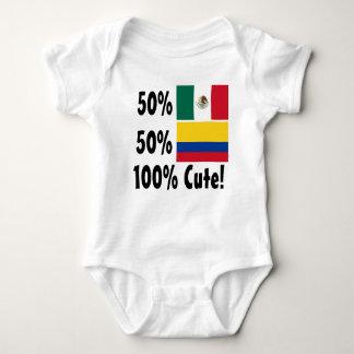 Mexicano colombiano del 50% el 50% el 100% lindo camisas