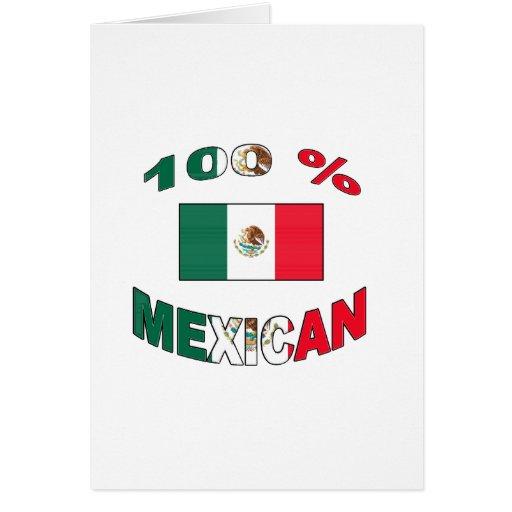 Mexicano del 100% tarjeta de felicitación