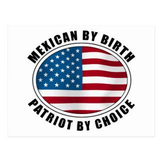 Mexicano del patriota del nacimiento por la opción tarjetas postales