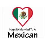Mexicano feliz casado tarjeta postal