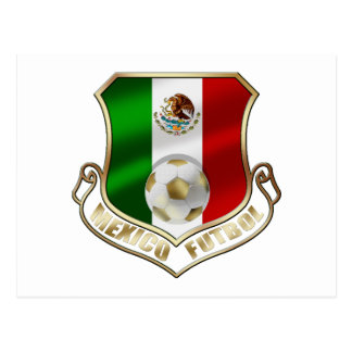 Mexicano Futbol badge emblem soccer Shield Postcard