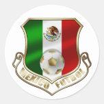 Mexicano Futbol badge emblem soccer Shield Round Stickers