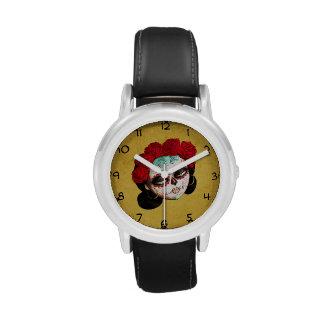 Mexicano hermoso Catrina Relojes De Mano