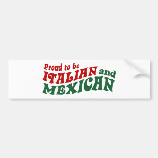 Mexicano italiano pegatina para auto