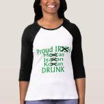 Mexicano italiano irlandés orgulloso bebido camisetas