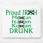 Mexicano italiano irlandés orgulloso bebido alfombrilla de ratón