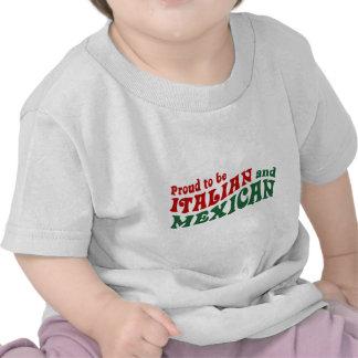 Mexicano italiano camisetas