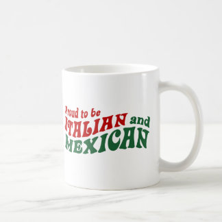Mexicano italiano tazas de café
