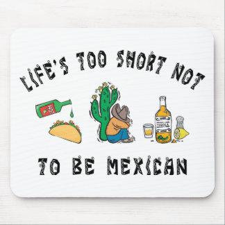 Mexicano muy divertido alfombrillas de ratones