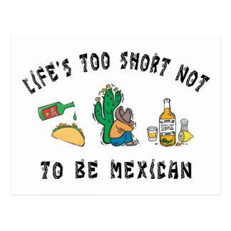 Mexicano muy divertido tarjeta postal