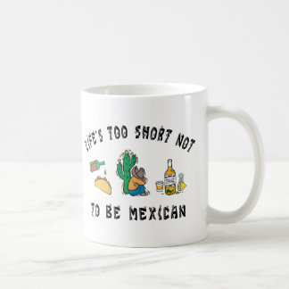 Mexicano muy divertido taza de café