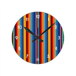 Mexicano Sarape Reloj Redondo Mediano