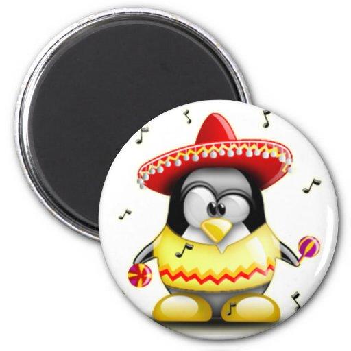 Mexicano Tux Imán Redondo 5 Cm