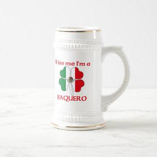 Mexicanos personalizada me besan que soy Baquero Jarra De Cerveza