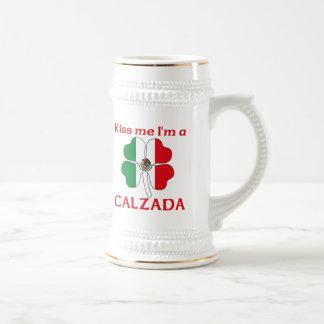 Mexicanos personalizada me besan que soy Calzada Jarra De Cerveza
