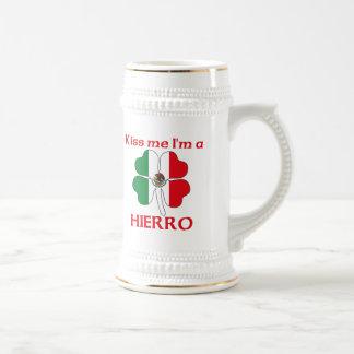 Mexicanos personalizada me besan que soy Hierro Jarra De Cerveza