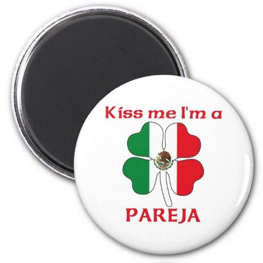 Mexicanos personalizada me besan que soy Pareja Imán Redondo 5 Cm