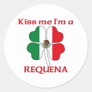 Mexicanos personalizada me besan que soy Requena Pegatina Redonda